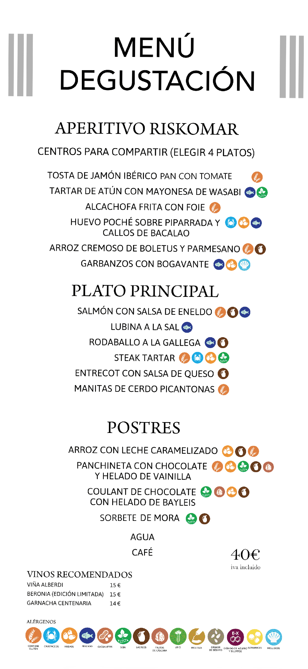 Menu degustación Zaragoza